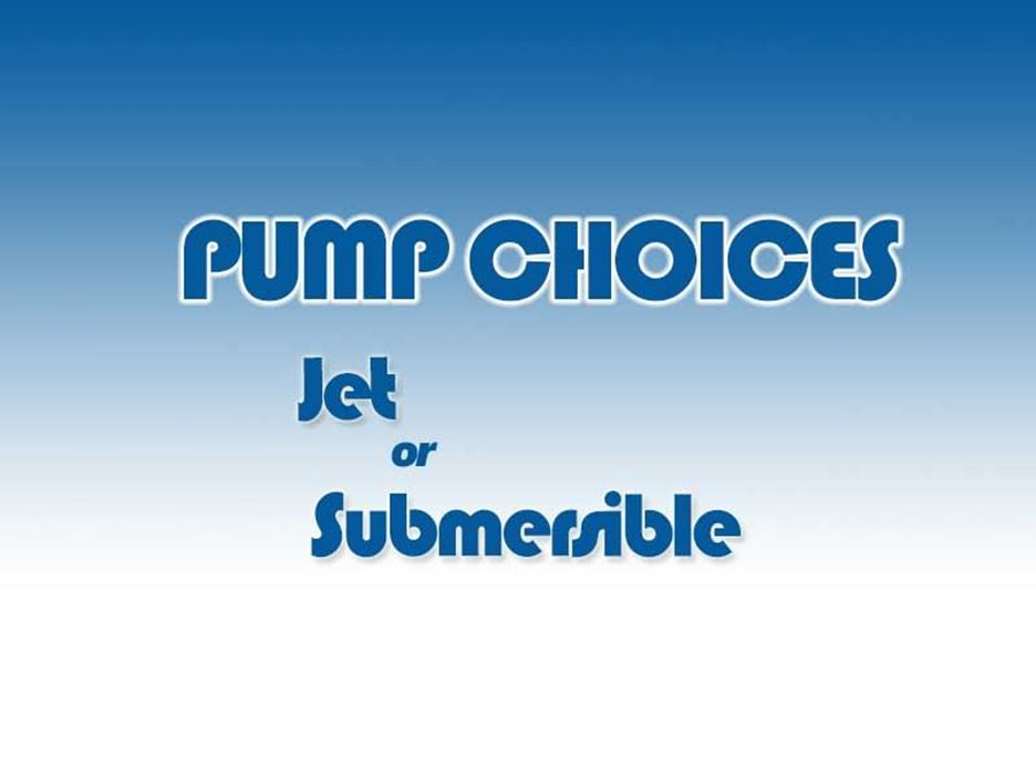 Jet or Submersible Pump for Cool Cell Systems?